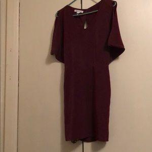 BcBg burgundy dress wore only twice